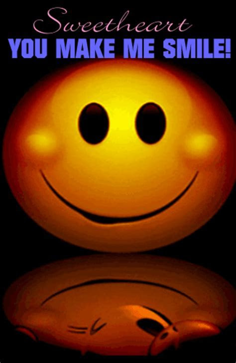 You Make Me Smile Sweetheart! Free Smile Day eCards