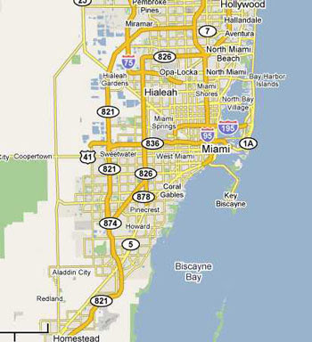 Map Of Miami Florida And Surrounding Areas Florida Map 2018