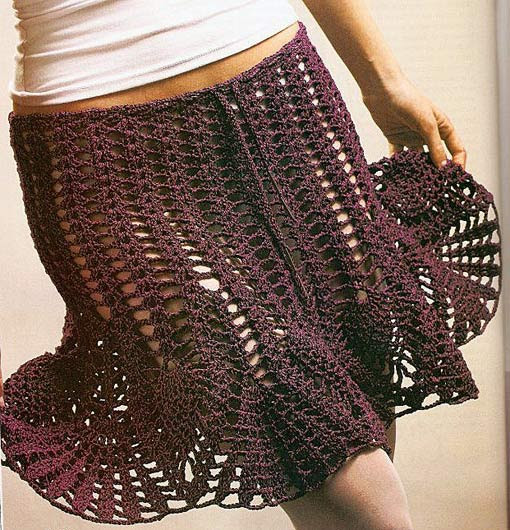 simple mesh crochet skirt