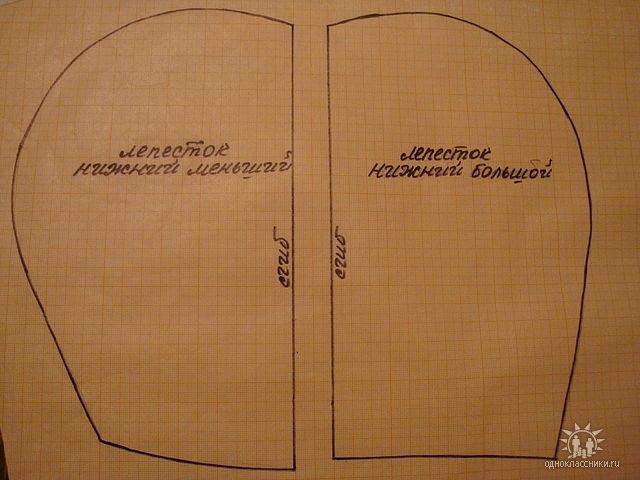 Padrões de lobo inferior de 4 Det cada e duas tiras de tecido shir.7 cm e 1 m de comprimento