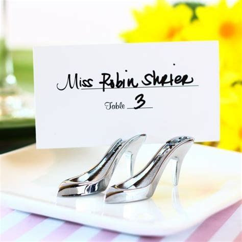 High Heel Shoe Place Card Holder   Bridal Shower Luncheon