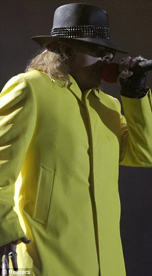 Mudar figura: olhar de Axl em dezembro foi muito longe de sua figura slimline no auge de sua fama