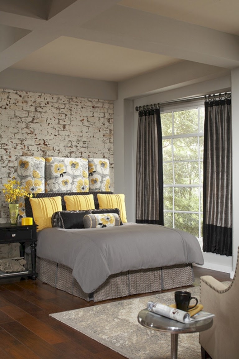 Design collection  Mesmerizing Yellow Gray Bedroom Decorating