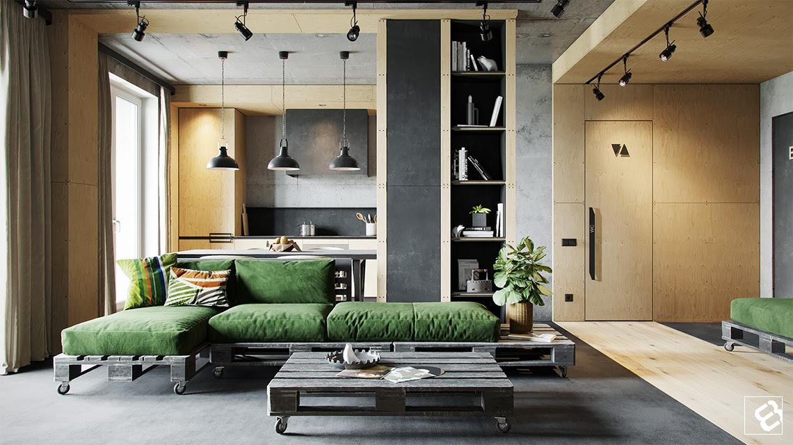 Industrial Design Interior Living Room Home Design Ideas