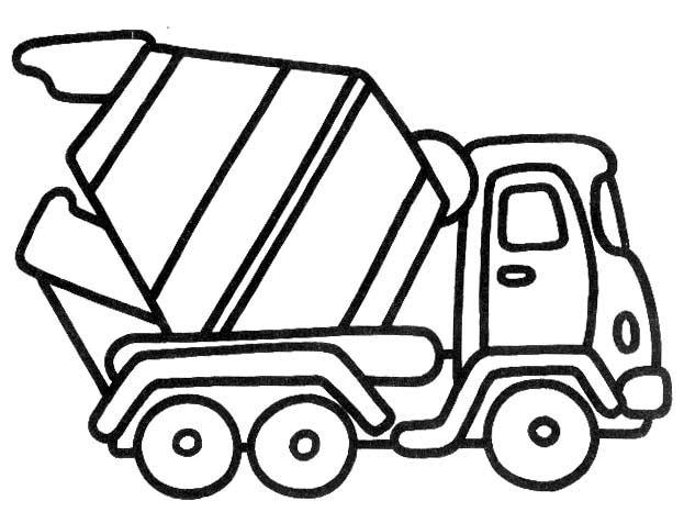 Camion 3 Disegni Per Bambini Da Colorare