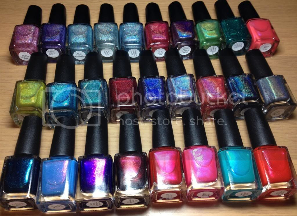 CbL Colors by Llarowe Spring Frenzy Nail Mail Holo Glitters Sheens Shimmers Lemmings