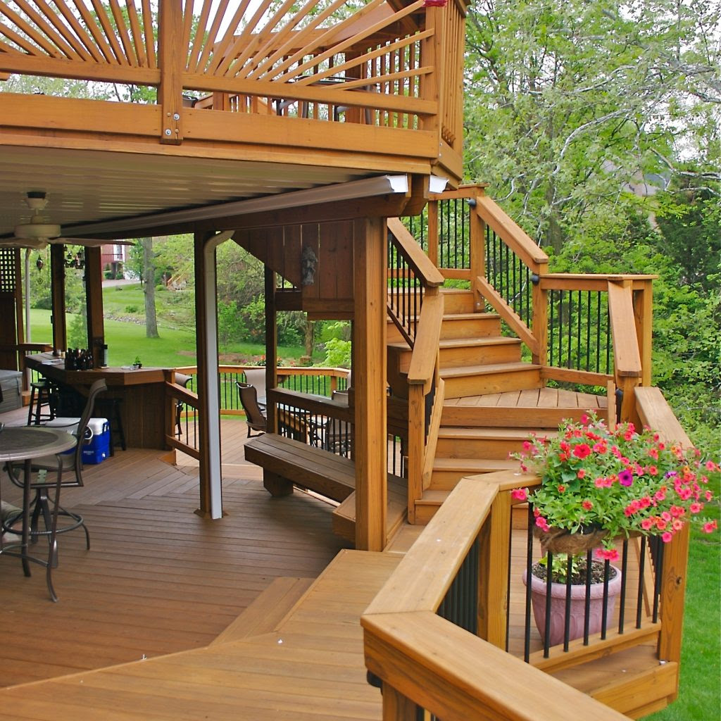 | Take the Next Step with Custom Deck Stairs