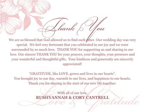 Pin by Toya Mack on Thank you notes   Wedding thank you