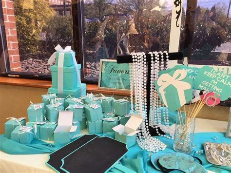 Tiffany themed Bridal/Wedding Shower Party Ideas in 2019