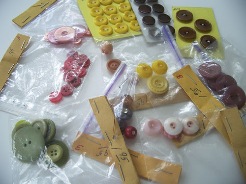 a slew of vintage buttons