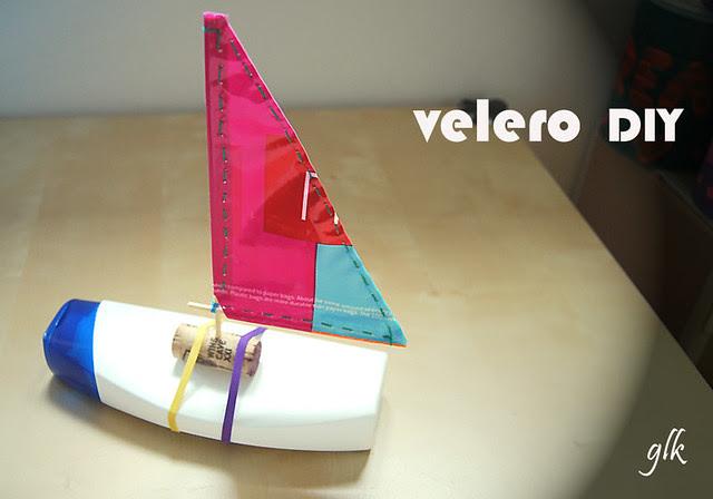 barco velero reciclado