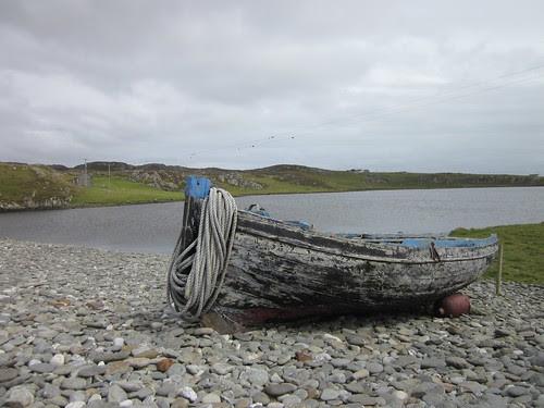 Boat by a lake