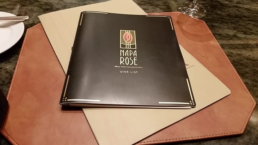 Napa Rose - Anaheim, CA, United States. The lovely alcohol menu LOL