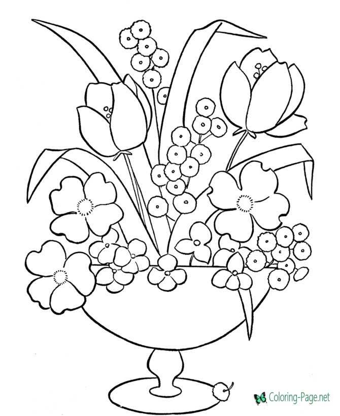 9100 Detailed Flower Coloring Pages Printable Download Free Images
