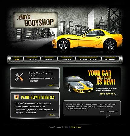 Auto Repair Website Template On Templates 19363 John Body Car