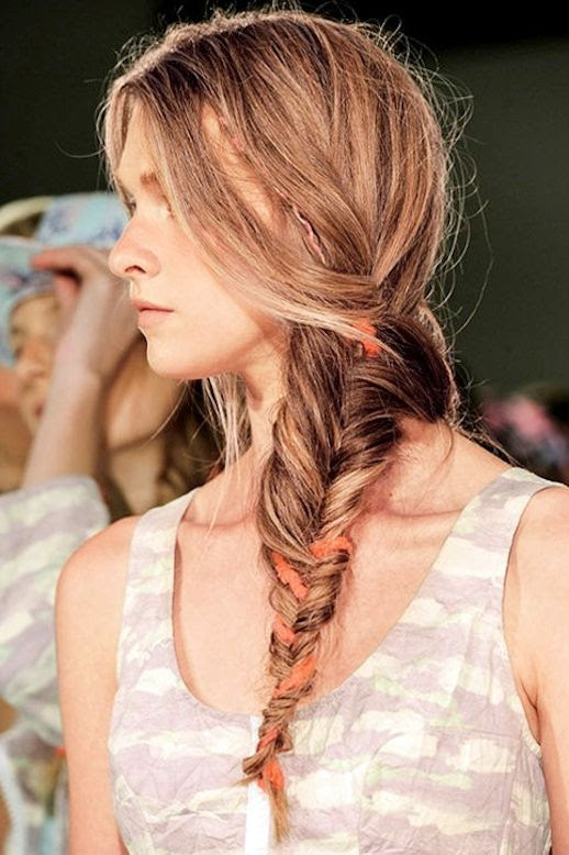 16 Le Fashion Blog 21 Braid Ideas For Long Hair Messy Side Fishtail Braided Ponytail Hairstyle Via Glamour