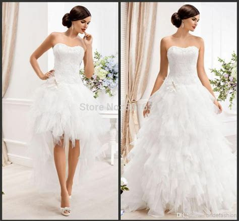 detachable strapless  pieces tulle   wedding dress