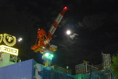 Full moon over Shinjuku