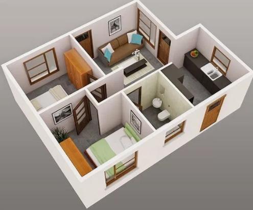 9500 Gambar Rumah Minimalis 3 Kamar Tidur Gratis