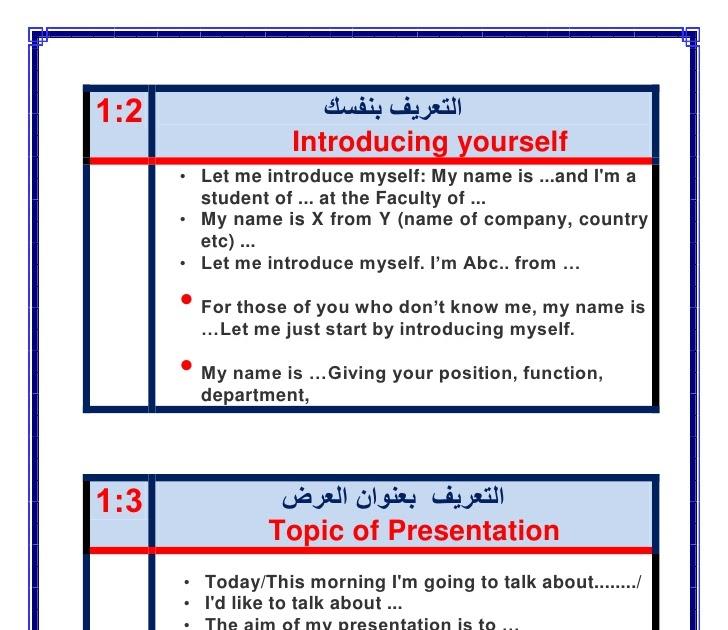 موضوع تعبير انجليزي عن نفسي Jaziyat Blog