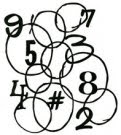 Number Party stencil