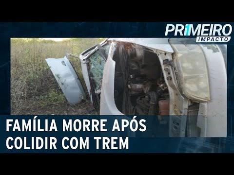 Pai, mãe e filho morrem após colisão entre carro e trem em Pernambuco