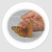 Butterfly Whisperer Round Sticker