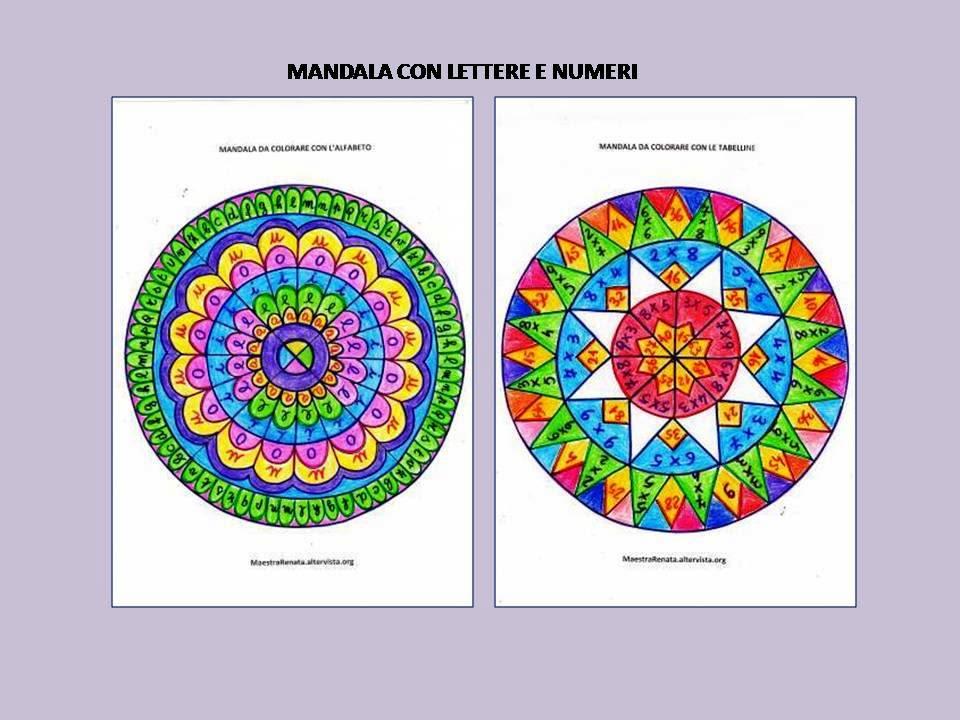 Mandala Con Letterenumeri E Tabelline Maestrarenata