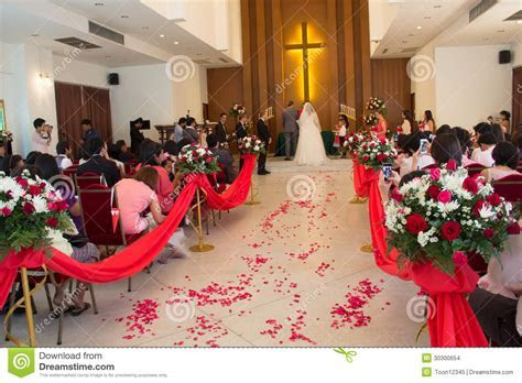 Wedding Ceremony In The Church Editorial Stock Image