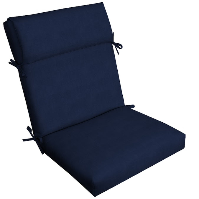 Allen Roth Madera Linen Navy High Back Patio Chair Cushion In The Patio Furniture Cushions Department At Lowes Com