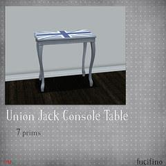 fucifino.union jack console table
