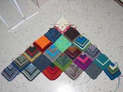 Scrap Sock Yarn Blanket WIP