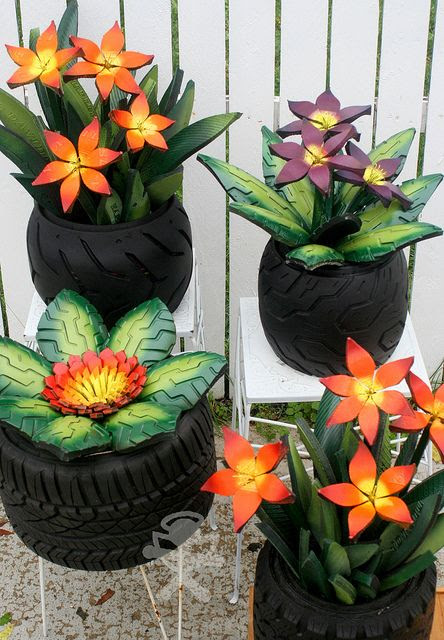 TIRE GARDEN by ang.kettel, via Flickr