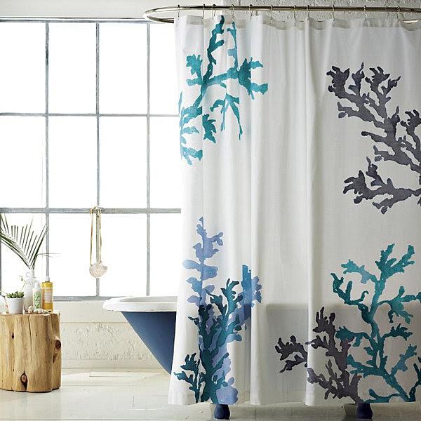 Aqua And Brown Shower Curtains | DIY Decorating , Room Design Ideas