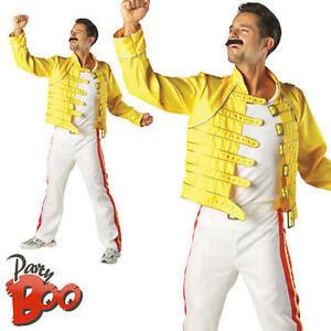 Freddie Mercury Mens XL Wembley 80s Fancy Dress Adults Queen Rock Star Costume  eBay