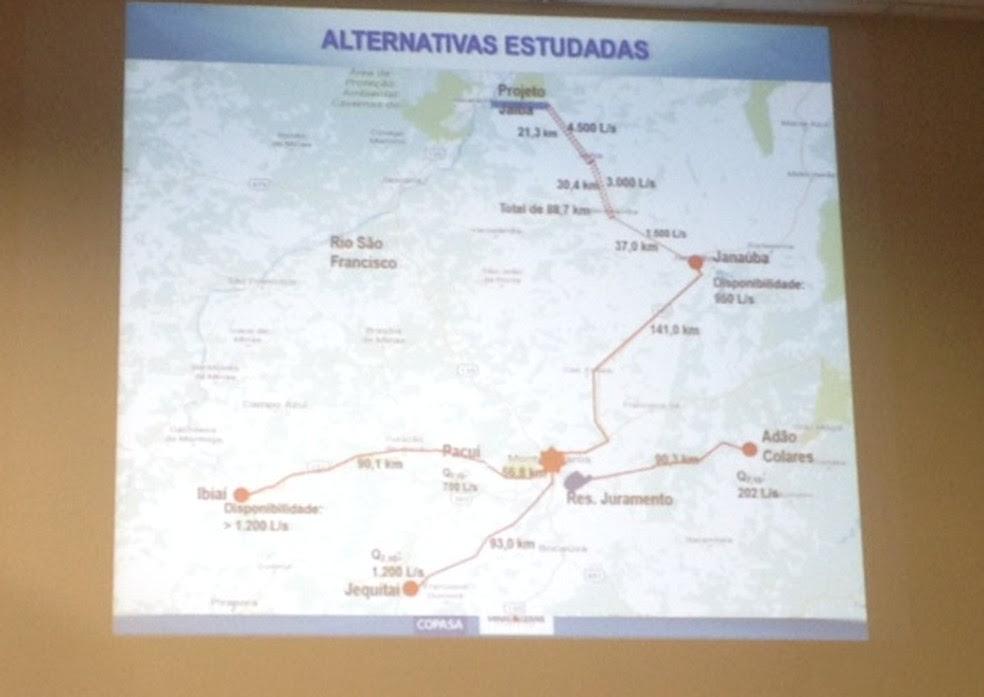 Copasa afirma que estudou outras possibilidades (Foto: Valdivan Veloso/G1)