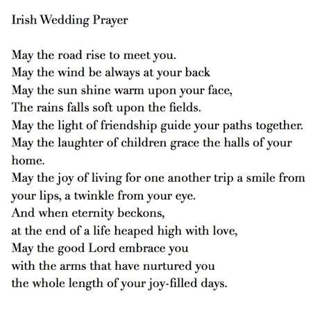 Irish Wedding Prayer/Blessing Talk with your officiant