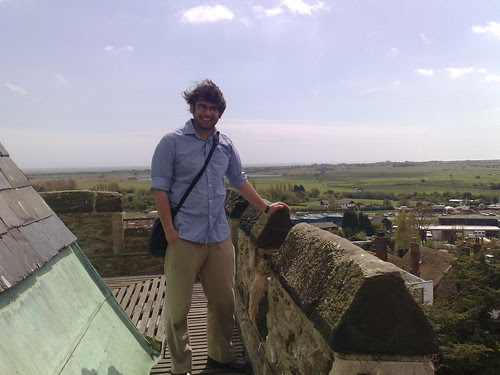 Nic on top of St Mary's Rye