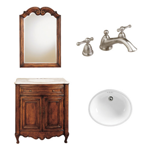 """Zoomed: American Standard 21-1/4"""" Aged Chestnut Bordaux Bath Vanity with Top"""