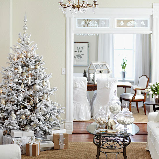 Decorated Christmas Trees 2012 - White and Brown