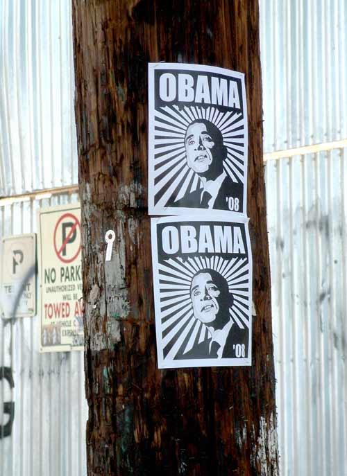 obama in downtown LA
