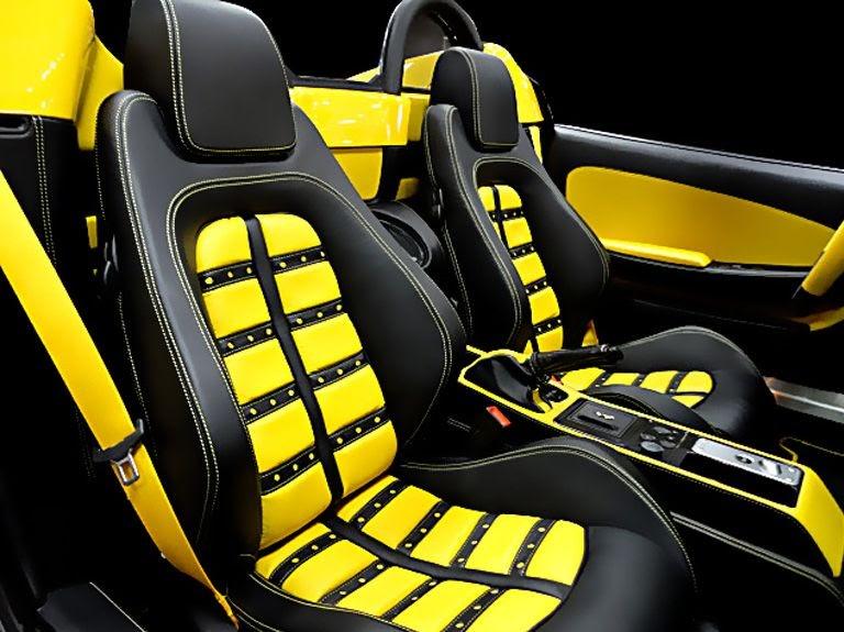 Custom Yellow Car Interior