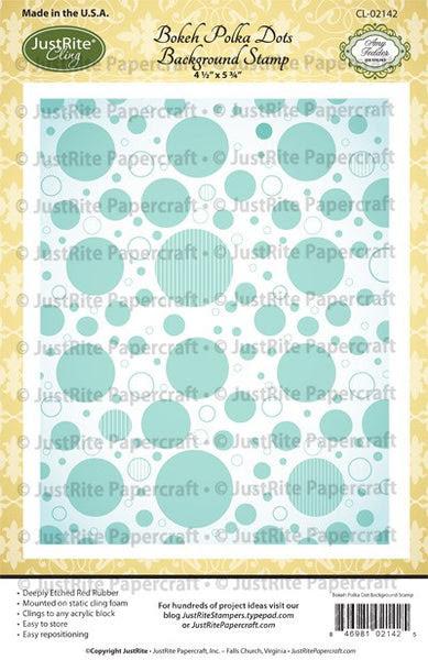 Bokeh Polka Dots Cling Background Stamp