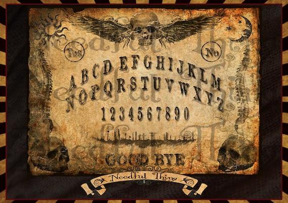 4 OUIJA BOARD printable vintage steampunk old by NeedfulThingShop