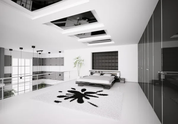 Modern bedroom interior 3d Stock Photo © Vadym Andru