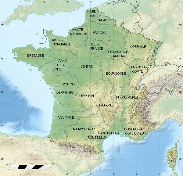Map Of France Regions France Map With Regions