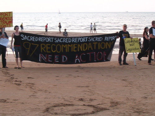 A banner at the beach