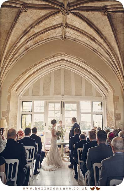 Butley Priory wedding ceremony - www.helloromance.co.uk