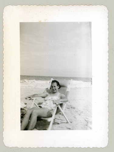 Lady in a beach chair