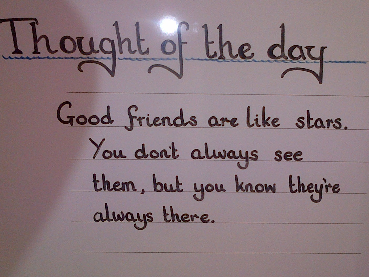 Thought Of The Day Good Friends Are Like Stars You Dont Always